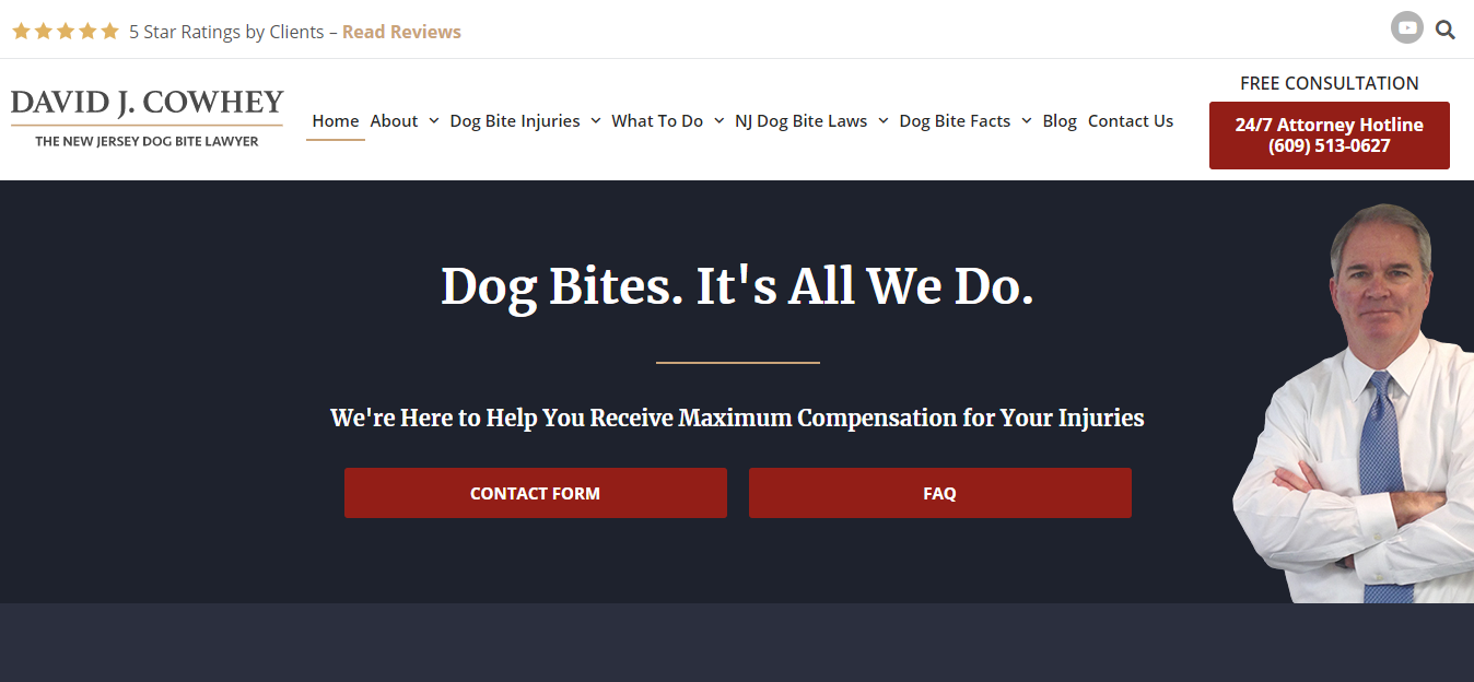 NJ Dog Attorney home page